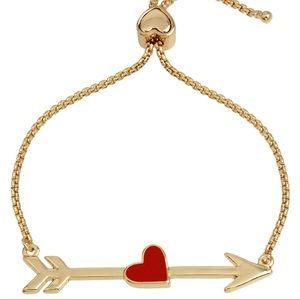 Betsey Johnson HEART ARROW SLIDER BRACELET